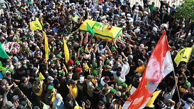 تشييع جثمان لبناني تقول السلطات إنه قتل بنيران إسرائيلية على الحدود
