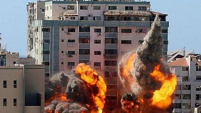 Israel destroys Gaza tower housing AP and Al Jazeera offices