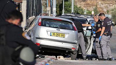 Las fuerzas israelíes matan a un palestino que embistió un coche contra seis policías