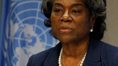"""سفيرة أمريكا تقول للأمم المتحدة: """"لم نلتزم الصمت ولا أنتم"""" بشأن الشرق الأوسط"""
