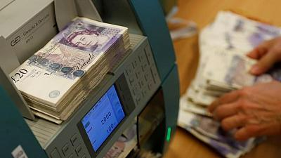 Sterling shrugs at rising inflation, hovers below $1.42