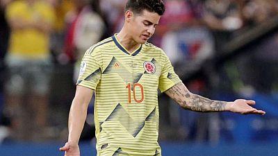 Colombia da de baja a James Rodríguez para eliminatoria y Copa América, cita a Cardona