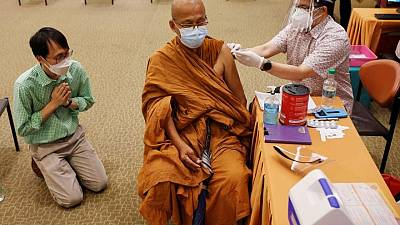 Thailand starts COVID-19 vaccinations for monks at risk