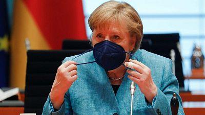 ميركل: ألمانيا تريد تهدئة دائمة بين إسرائيل وحماس