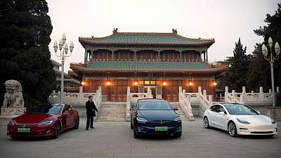 Tesla cars barred from some China government compounds - sources
