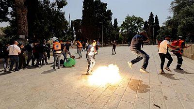 مصادمات بين فلسطينيين والشرطة الإسرائيلية في القدس