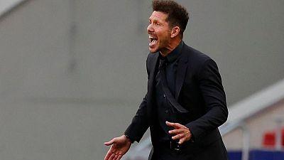 """Simeone: El Atleti se dejará """"la vida"""" para hacer el último esfuerzo y ganar La Liga"""