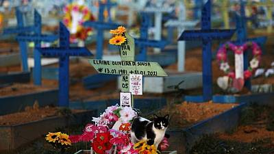 Brasil registra 2.215 nuevas muertes por COVID-19, total de decesos superan los 446.000