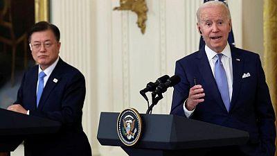 Presidentes de EEUU y Corea del Sur expresan su voluntad de alcanzar compromiso con Pyongyang