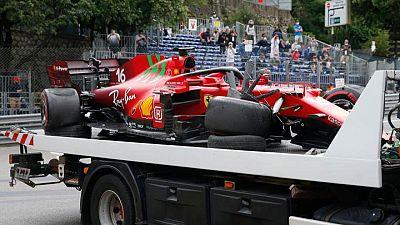 Ferrari confirma que el accidente de Leclerc lo provocó una falla en el eje de transmisión
