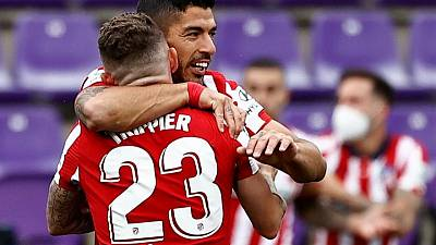 Atlético Madrid vence a Valladolid con gol de Luis Suárez y gana la liga española
