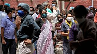 الهند تسجل 22842 إصابة و244 وفاة جديدة بفيروس كورونا