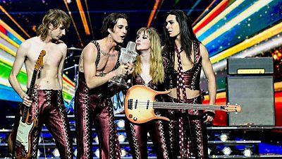 Cantante de banda italiana ganadora de Eurovisión no se drogó, según los organizadores