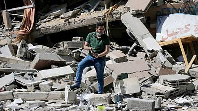 His bookshop in ruins, Gazan hopes to rebuild with crowd-funding help