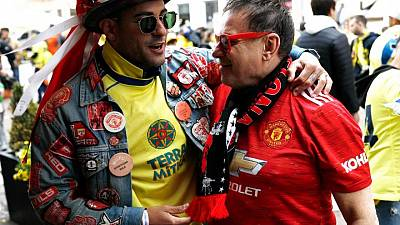 El entusiasmo por la final de la Europa League supera al miedo al virus de los aficionados