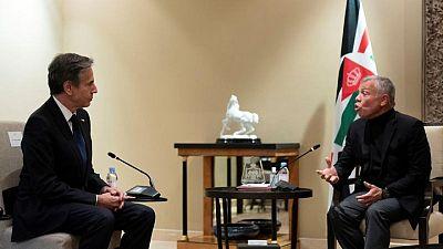 عاهل الأردن يرحب بتحرك أمريكا لمعاودة فتح قنصليتها في القدس
