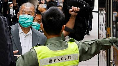 Exclusive: Hong Kong security chief threatens tycoon Lai's bankers with jail if they deal in his accounts