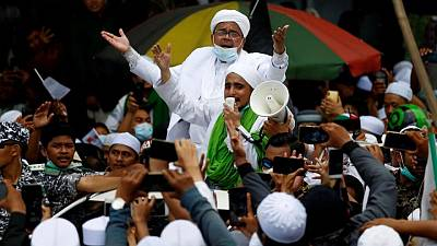 Indonesian court set to deliver verdict on hardline cleric accused of flouting COVID curbs