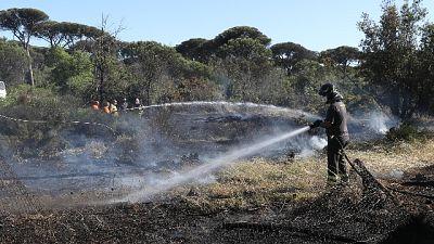 Vigili fuoco a lavoro anche con elicotteri. Disagi al traffico