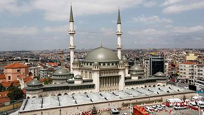 Erdogan inaugurates major new mosque in heart of Istanbul