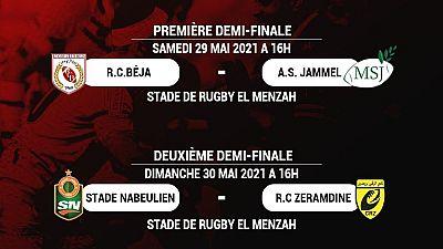 Les oppositions des demi-finales du championnat de Tunisie de Rugby à XV Seniors Hommes dévoilées