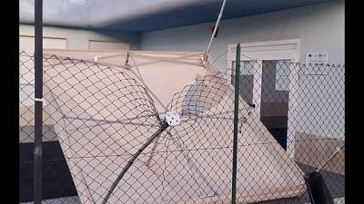 Rotti gazebo e recinzione PalaCosmai Bisceglie, sindaco'è grave'