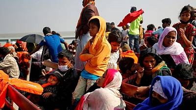 Rohingya Muslim refugees 'injured in protests' on isolated island during UNHCR visit