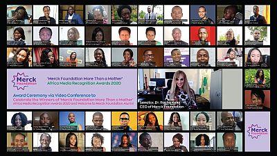 Merck Foundation CEO félicite les gagnants des Prix de Reconnaissance des Médias Africains « Plus Qu'une Mère » de la Fondation Merck 2020 lors d'une cérémonie de remise de prix virtuelle
