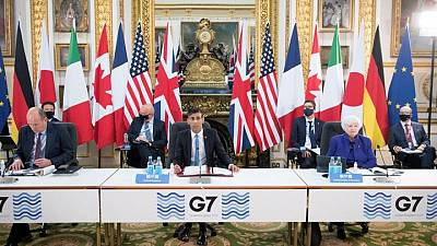UK says G7 finance ministers' talks were productive