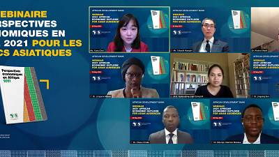 Perspectives économiques en Afrique 2021 pour la zone Asie : des experts proposent des moyens de surmonter les défis de la dette et de renforcer les liens économiques entre l'Afrique et l'Asie