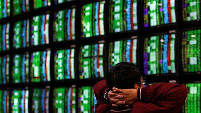 Stocks fall as hawkish Fed reverberates; Treasury yields slide
