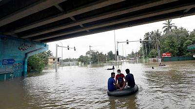 أمطار غزيرة وفيضانات تقتل 17 وتشرد عشرات الآلاف في سريلانكا