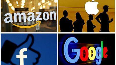 Shares in U.S. tech giants a notch lower after landmark G7 tax deal