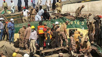 Death toll in Pakistan train crash rises to 56