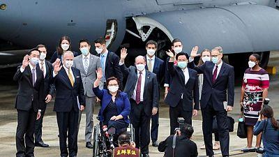 China denounces 'vile provocation' of U.S. senators in Taiwan