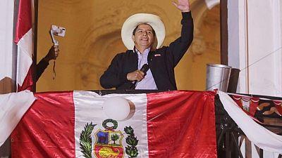 Socialist Castillo holds slim lead as Peru presidential vote count reaches tense finale