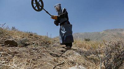 مصحح-مسلحون يقتلون 10 أفغان على الأقل يعملون بوكالة لإزالة الألغام