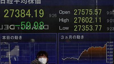 أسهم اليابان تغلق منخفضة قبل بيانات التضخم الأمريكية