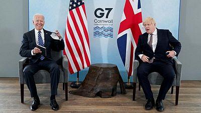 جونسون يستقبل الرئيس الأمريكي في انجلترا قبيل قمة مجموعة السبع