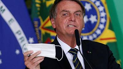 Brazil plans to allow vaccinated people to not wear face masks -Bolsonaro