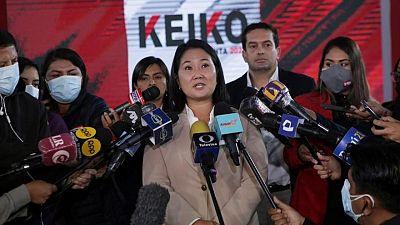 Piden prisión preventiva de Fujimori, que trata de revertir derrota electoral en Perú