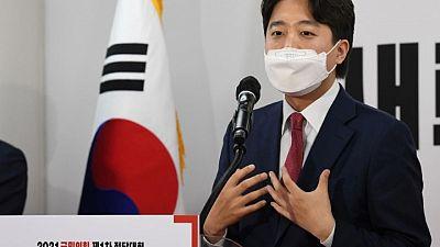 S.Korea conservative opposition picks young upstart to challenge for president