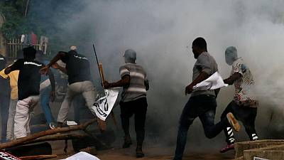 Nigerian police fire tear gas and detain several protesters - witnesses