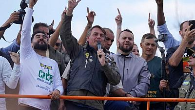 After biker rally, Brazil's Bolsonaro says cops will support him 'whatever happens'