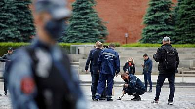 Russian held in jail over faked suicide 'protest performance' on Red Square