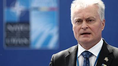 At NATO, Lithuania says Russia trying to 'swallow' Belarus