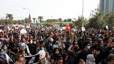 U.N. rights office voices concern on serious violations by Tunisian police
