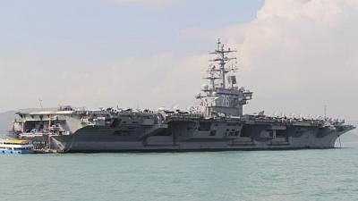 U.S. Navy says carrier group operating in S.China Sea