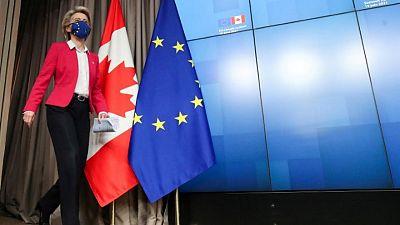 رئيسة المفوضية الأوروبية: حل نزاع مع أمريكا بشأن دعم الطائرات