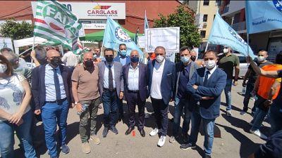Stamani protesta davanti a Questura Crotone